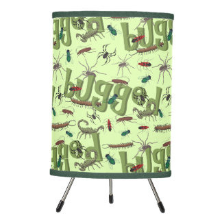 Bugged Insects Spider Pattern Tripod Lamp
