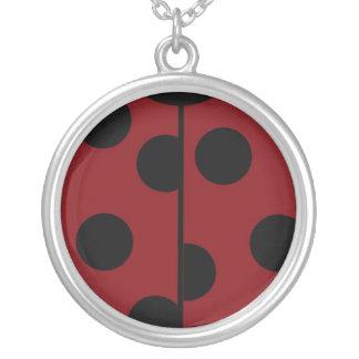 Bugged Round Pendant Necklace