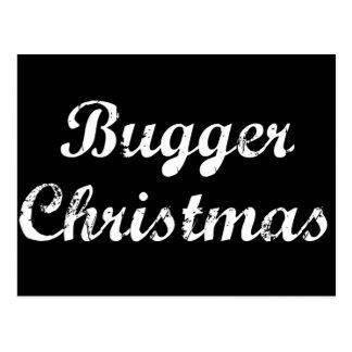 Bugger Christmas Postcard
