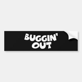 Buggin hacia fuera pegatina para auto