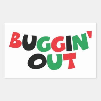 Buggin' Out Rectangular Sticker