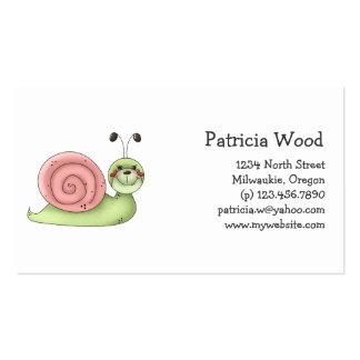 Buggin usted · Caracol verde y rosado Plantilla De Tarjeta Personal