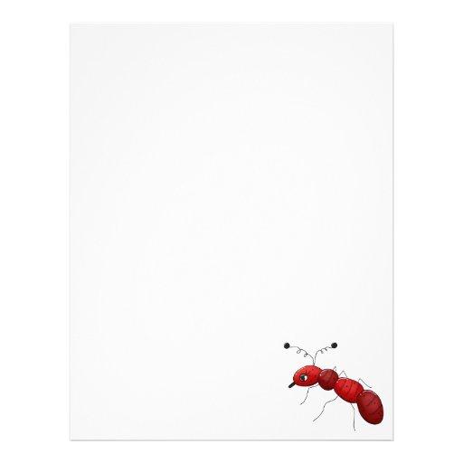 Buggin usted otra vez · Hormiga roja Plantilla De Membrete