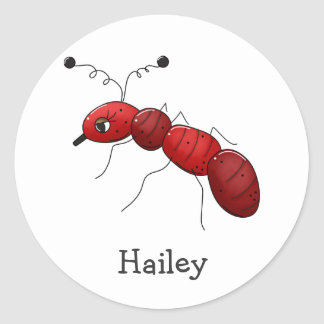 Buggin usted otra vez · Hormiga roja Pegatina Redonda