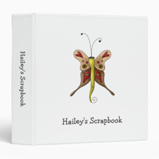 Buggin' You Again · Beige & Green Butterfly 3 Ring Binder
