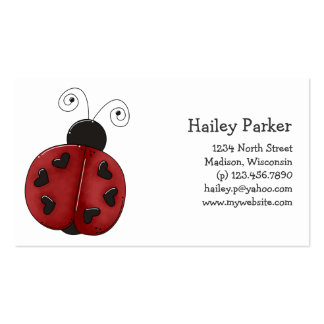 Buggin You Again · Ladybug Business Card Template