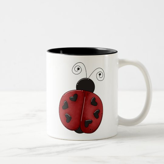 Buggin' You Again · Ladybug Two-Tone Coffee Mug