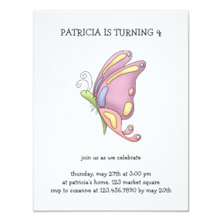 Buggin' You · Butterfly 4.25x5.5 Paper Invitation Card