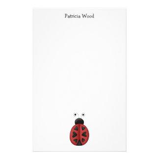 Buggin' You · Ladybug Hearts Stationery