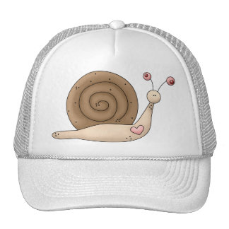 Buggin' You · Snail · Pink & Brown Trucker Hat