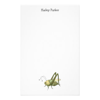 Buggin' You Too · Grasshopper Personalized Stationery