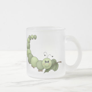 Buggin' You Too · Green Inchworm 10 Oz Frosted Glass Coffee Mug