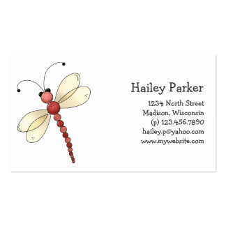 Buggin You Too · Red Dragonfly Business Card Templates
