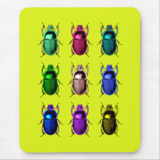 Bugging Out: Colorful Beetle Bugs Mouse Pad