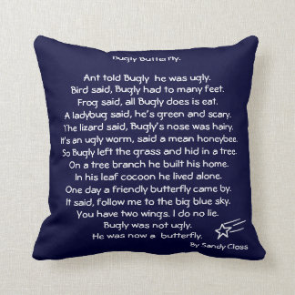 Buggly the butterfly, bedtime story pillow