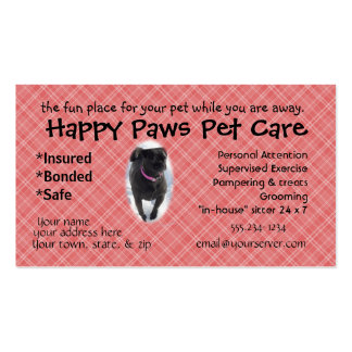 Buggs Dog Biz Card- customize as needed Double-Sided Standard Business Cards (Pack Of 100)