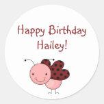 ¡buggy_5, BirthdayHailey feliz! Pegatinas Redondas
