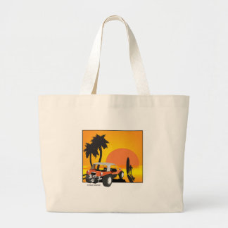 Buggy and Surfer Large Tote Bag
