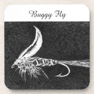 """""""Buggy Fly"""" Trout Wet Fly Coaster"""