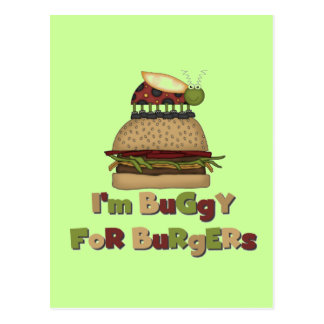 Buggy for Burgers Tshirts and Gifts Postcard