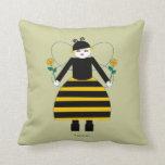 Buggy Martzkin Honey Bee American MoJo Pillows