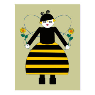 Buggy Martzkins Honey Bee Postcard