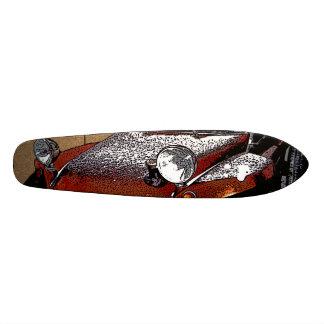buggy toon brown block skateboard deck