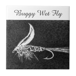 """""""Buggy Wet Fly"""" trout fly tile. Tile"""