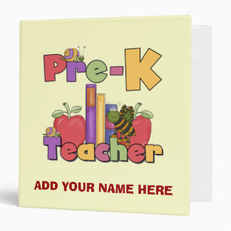 Buggylicious Pre-K Teacher School  Binder