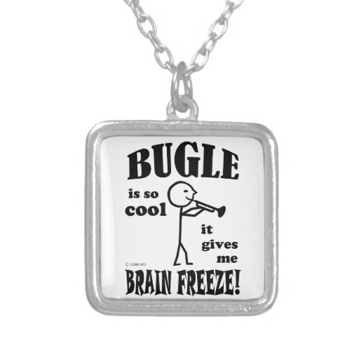 Cooling Necklaces That You Freeze : Bugle brain freeze personalized necklace from zazzle