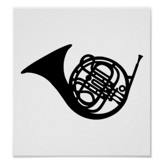 Bugle french horn poster