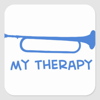 Bugle mi terapia pegatina cuadrada