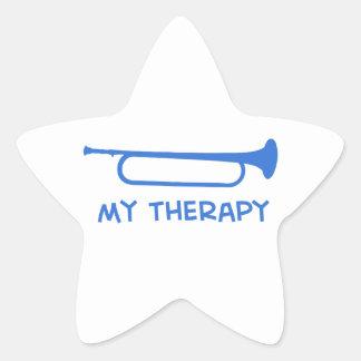 Bugle mi terapia pegatina en forma de estrella