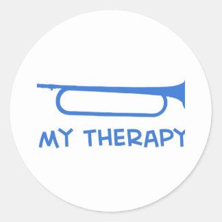 Bugle mi terapia pegatina redonda