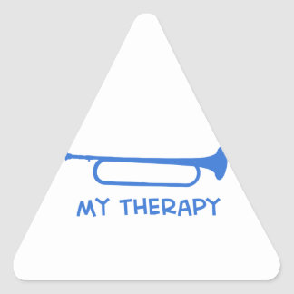 Bugle mi terapia pegatina triangular