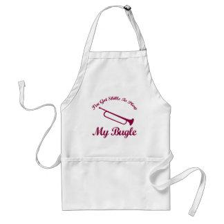 bugle musical designs adult apron