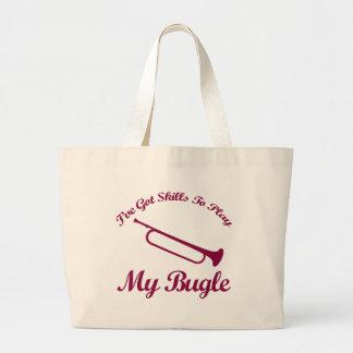 bugle musical designs tote bag
