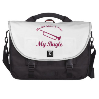 bugle musical designs laptop computer bag
