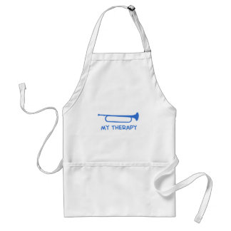 Bugle my therapy adult apron