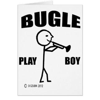Bugle Play Boy Card