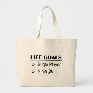 Bugle Player Ninja Life Goals Canvas Bag
