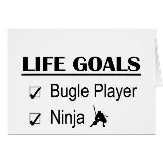 Bugle Player Ninja Life Goals Card