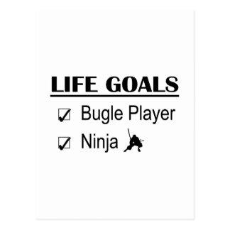 Bugle Player Ninja Life Goals Postcard