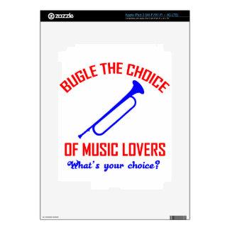 bugle the choice of music iPad 3 decal