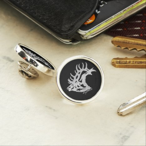Bugling Bull Elk Lapel Pin