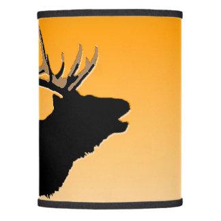 Sunset lamp shades zazzle bugling elk at sunset original wildlife art lamp shade aloadofball Gallery