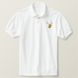 Bugling Elk Embroidered Polo Shirt
