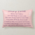 Bugly Butterfly Story time pillow pink