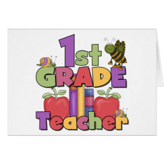 Bugs and Apples 1st Grade Card