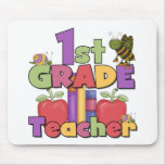 Bugs and Apples 1st Grade Mouse Mats